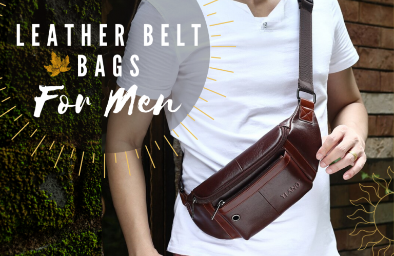 Leather Belt Bags with Pouches