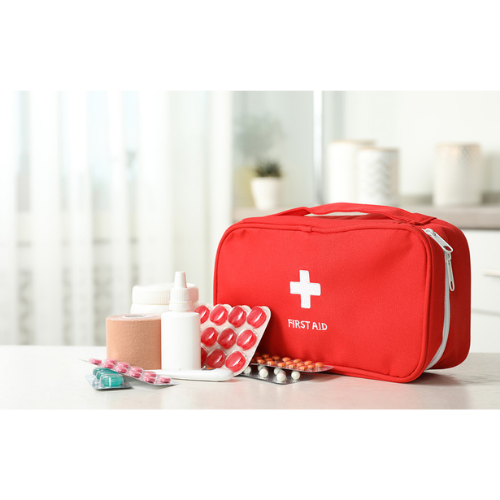 First Aid Kit and medication for college students